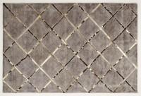 Leder/Viskose-Teppich BOSTON, 170 x 240 cm, braun/gold