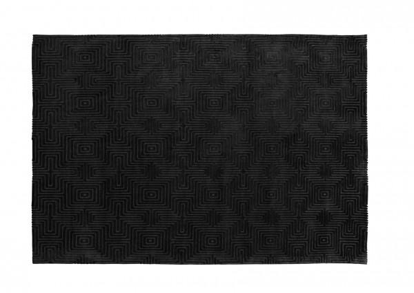 Design-Teppich LABYRINTH, 160 x 230 cm, dunkelgrau