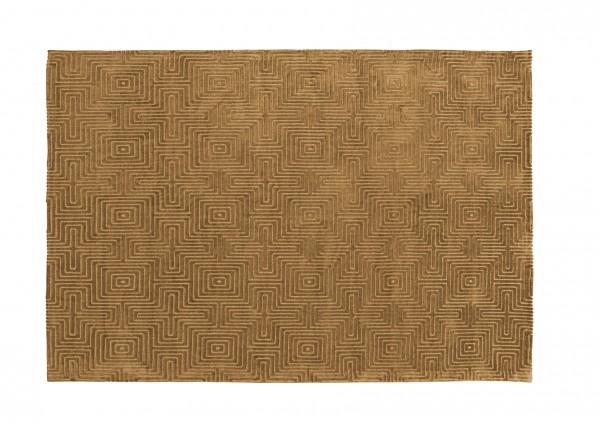Design-Teppich LABYRINTH, 160 x 230 cm, gelb