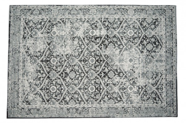 Vintage-Teppich GUSTO, schwarz-grau