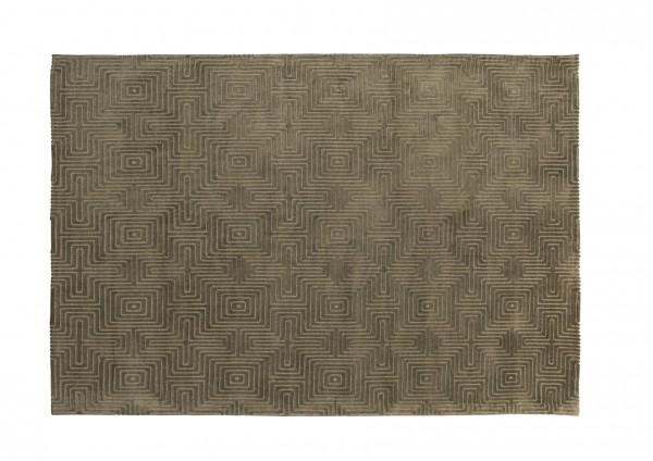 Design-Teppich LABYRINTH, 160 x 230 cm, grün