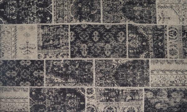Vintage-Teppich EMMA, 170 x 240 cm, schwarz