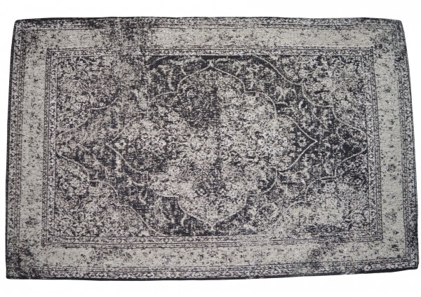 Vintage-Teppich LUIS, 170 x 240 cm, grau / schwarz / Jaquard