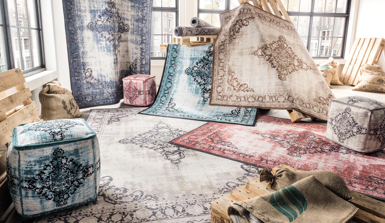 grau farbe vintage teppiche teppich vintage. Black Bedroom Furniture Sets. Home Design Ideas