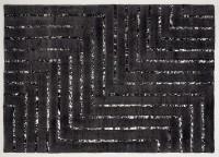 Leder/Viskose-Teppich NEW YORK, 170 x 240 cm, schwarz/silber
