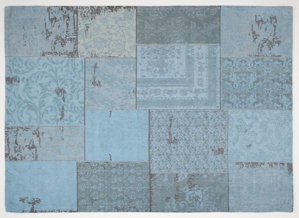 Vintage-Orient-Teppich PATCHWORK, türkis