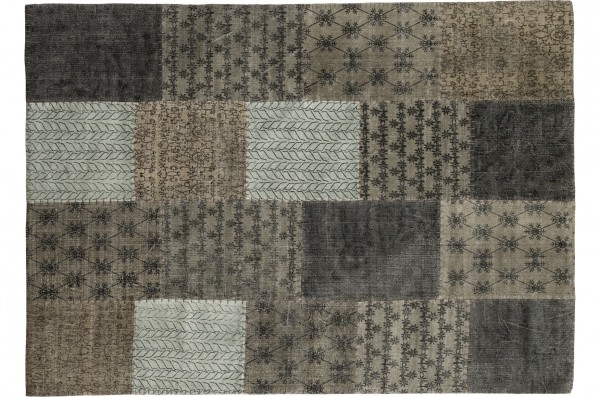 Vintage-Teppich STONE PATCH, multicolor-grau